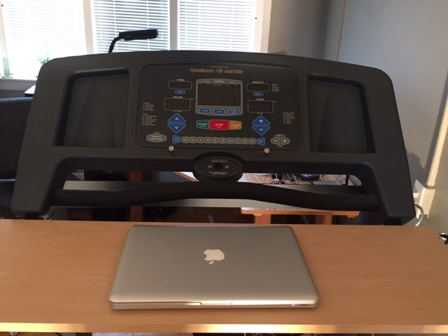 create a treadmill desk